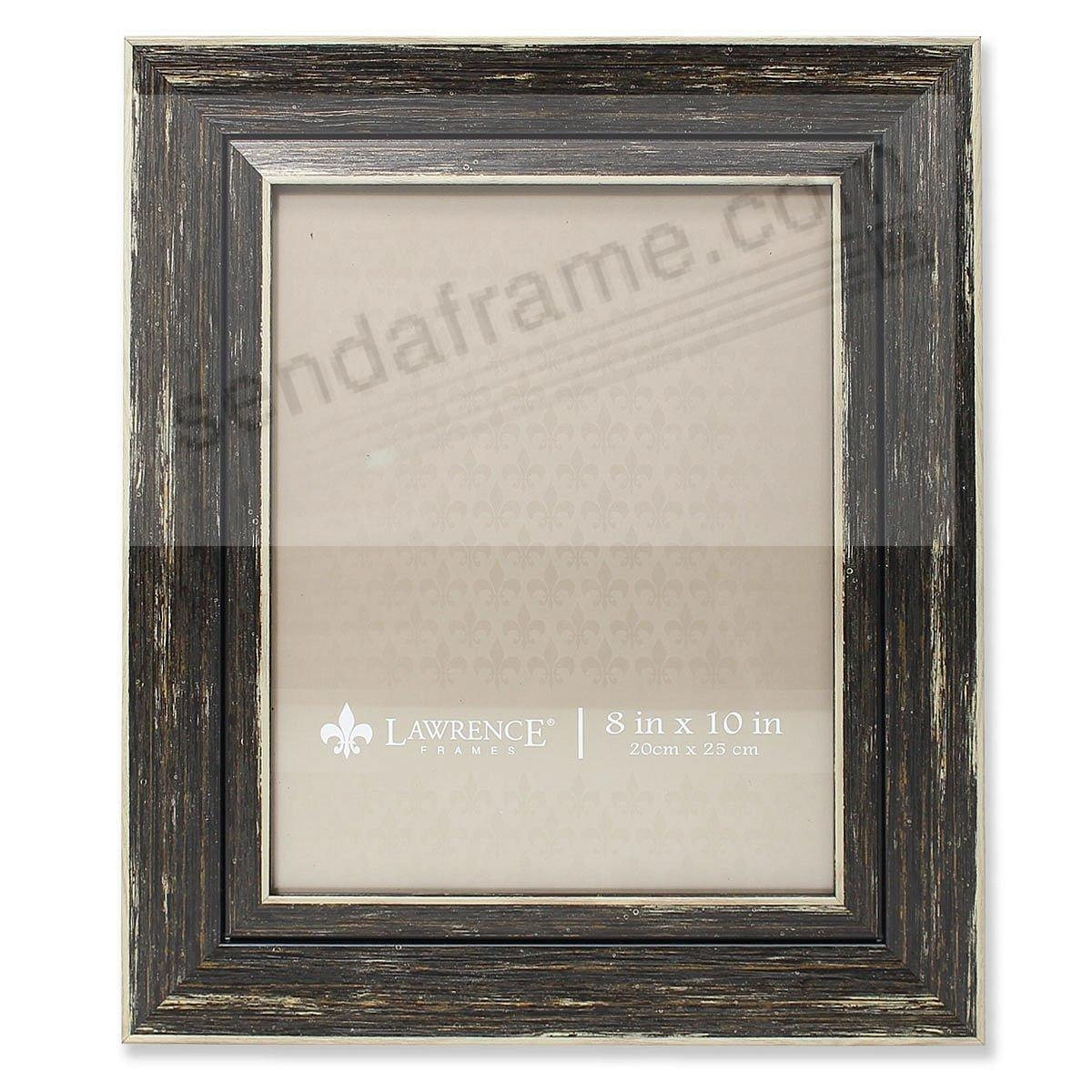 Weathered/Antique Black Angled Wood Frame by Lawrence® - Picture ...