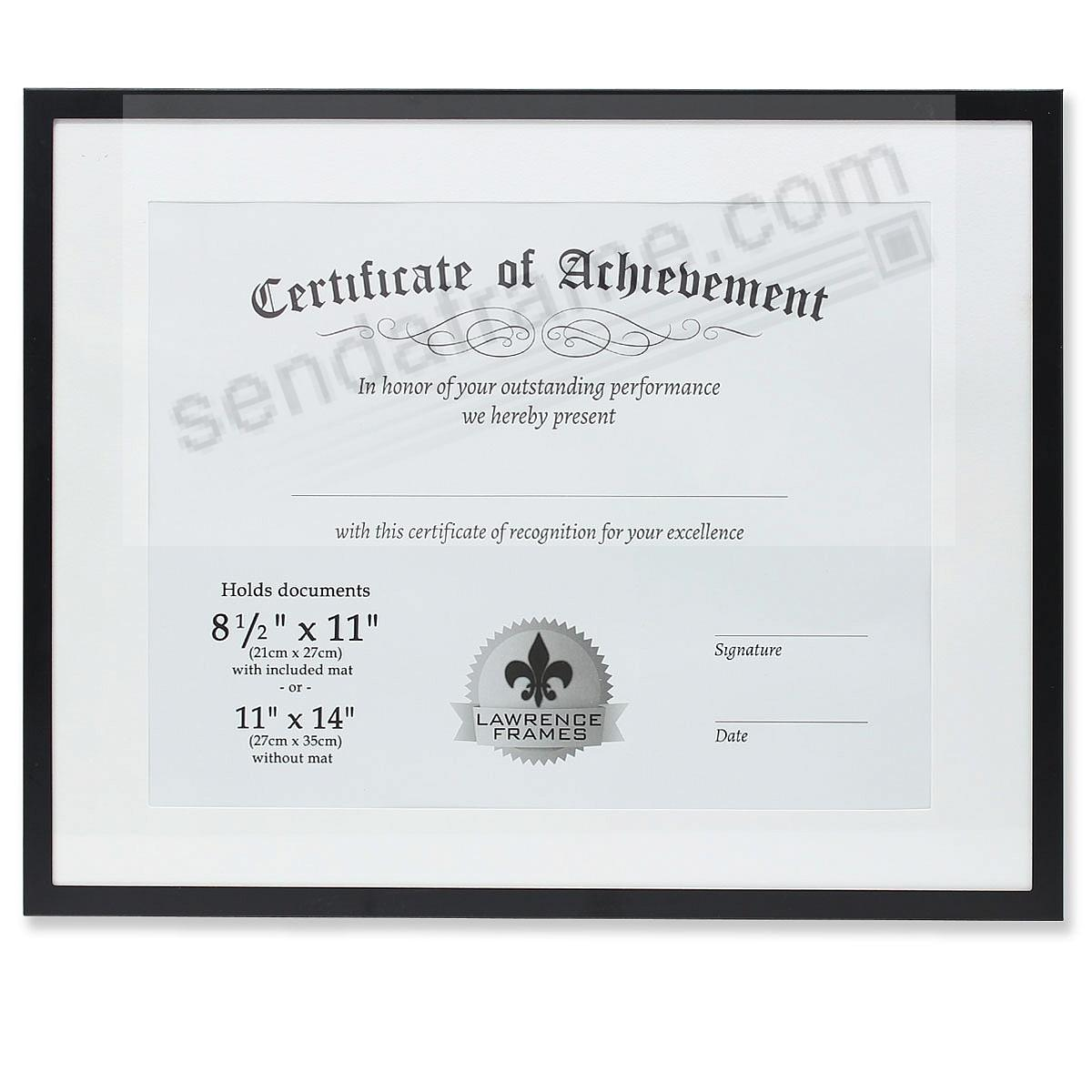 Certificate size black aluminum dual use 11x814x11 frame by certificate size black aluminum dual use 11x814x11 frame by lawrence xflitez Gallery