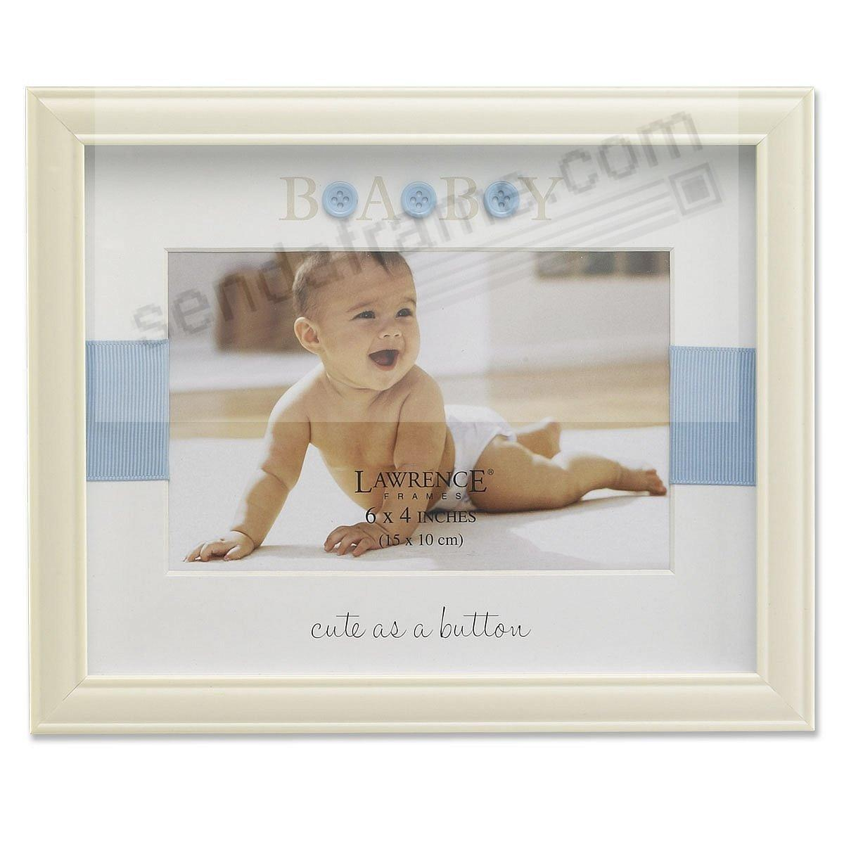 CUTE AS A BUTTON Blue/Ivory frame by Lawrence® - Picture Frames ...
