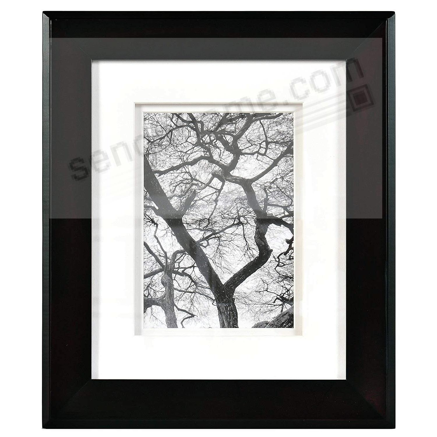 CHELSEA Dbl-Matted Black Wood frame 8x10/5x7 from ARTCARE® by Nielsen®