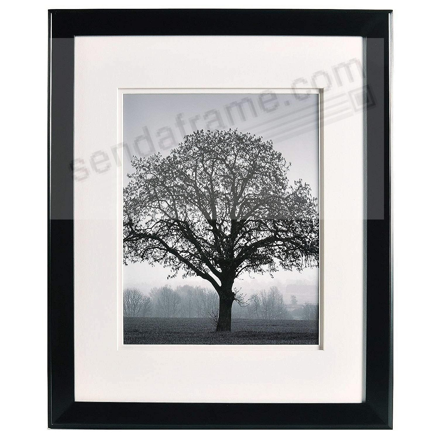 Chelsea Dbl Matted Black Wood Frame 16x2011x14 From Artcare By