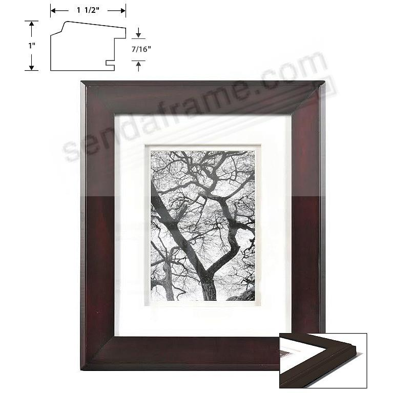 Chelsea dbl matted chestnut wood frame 8x10 5x7 from for Engraved digital photo frame