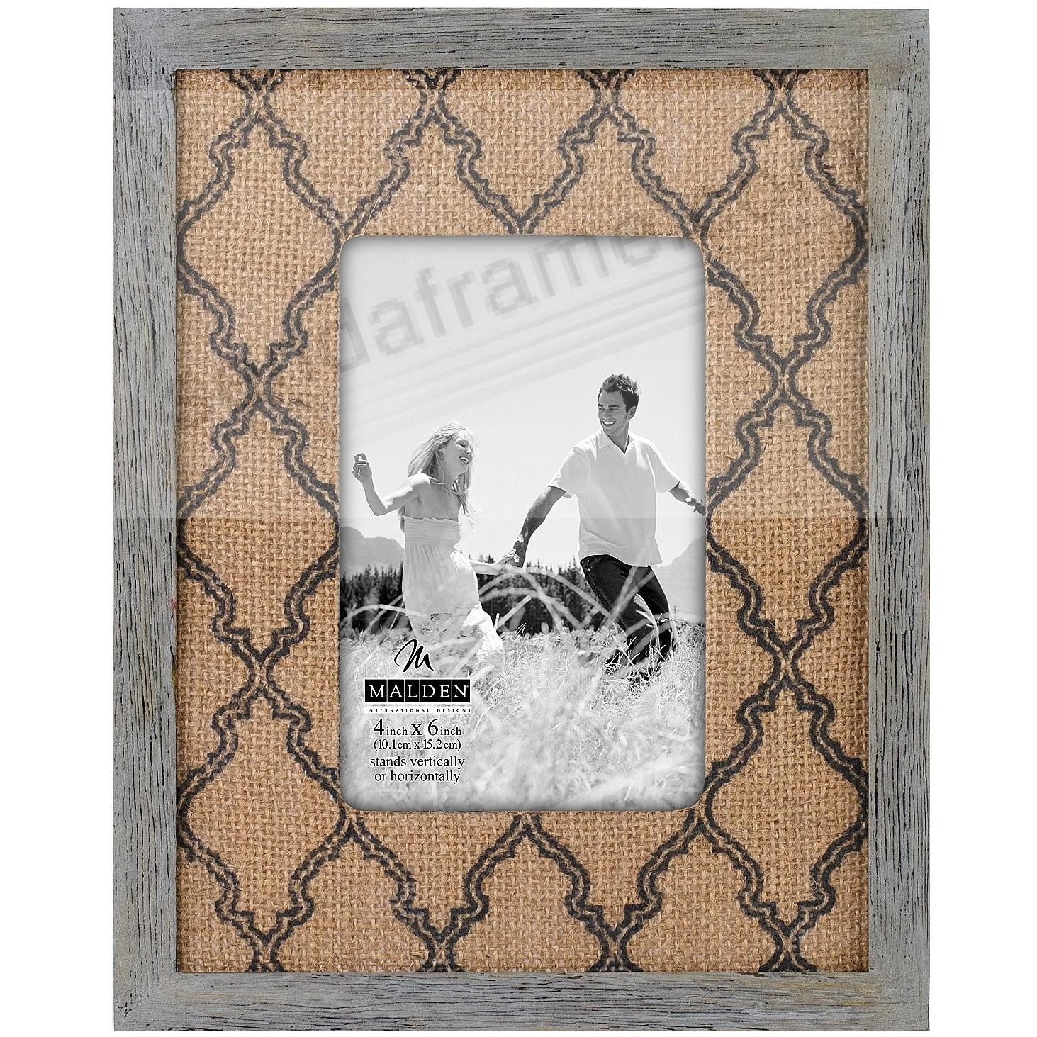 BURLAP MAT Charcoal 4x6 frame by Malden® - Picture Frames, Photo ...