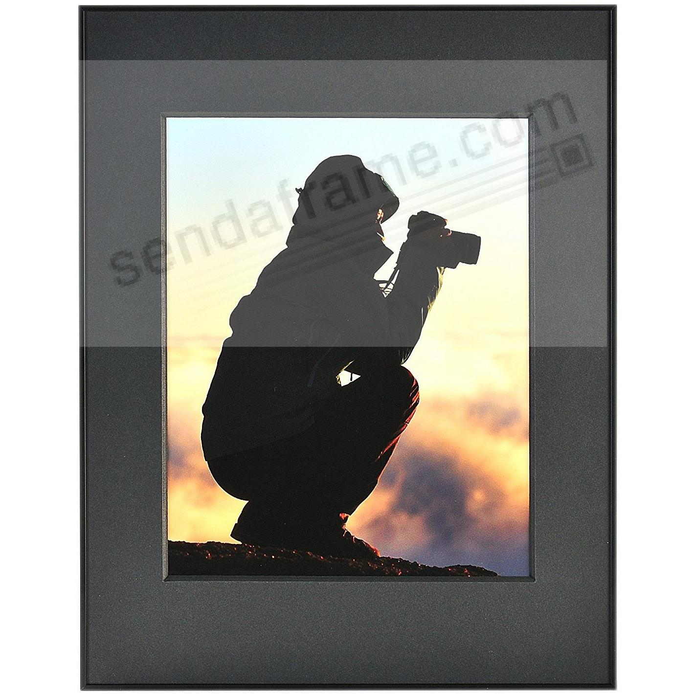 PHOTOGRAPHY Metallic frame MATTE-BLACK/Black Matted 11x14/8x10 by ARTCARE®