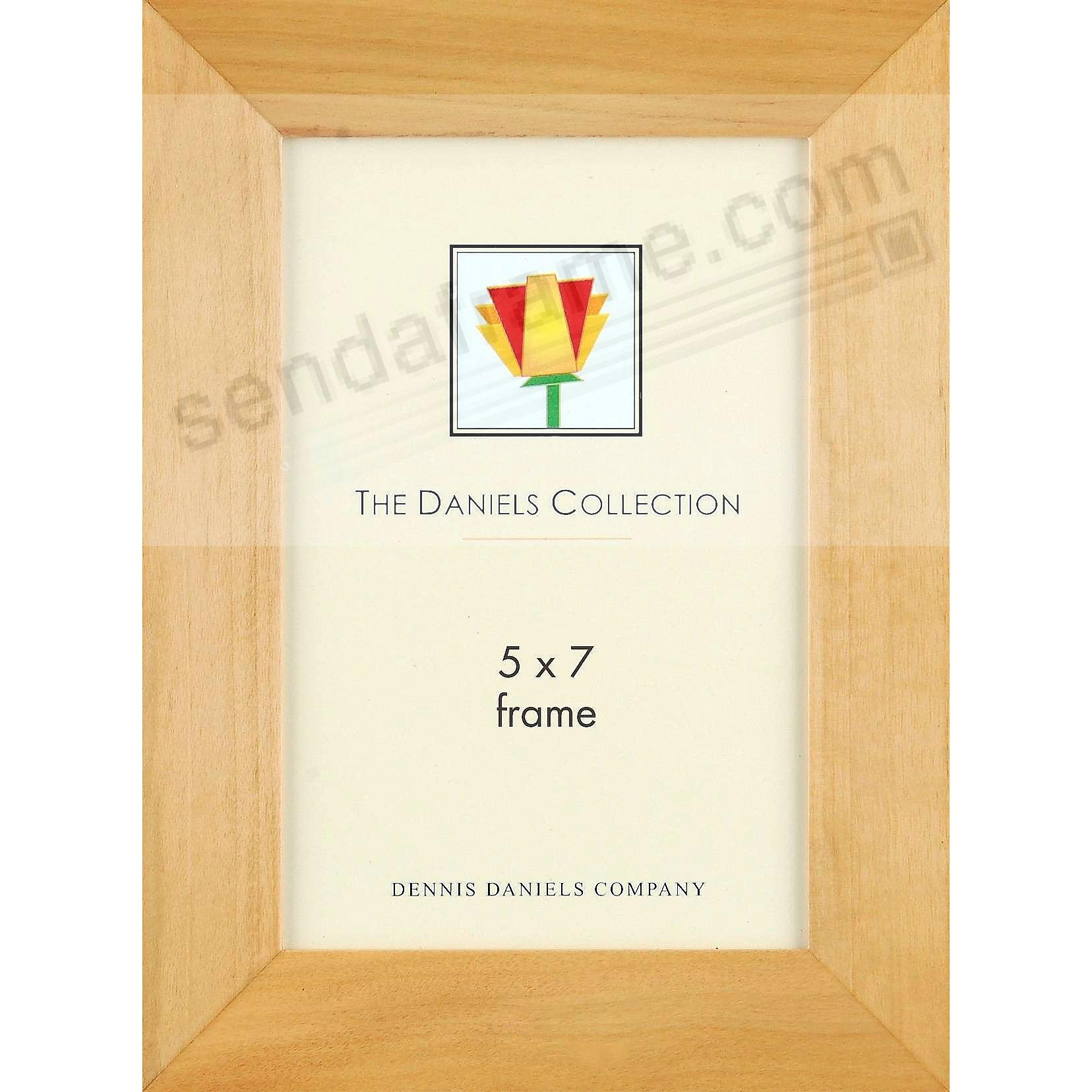 Bevelled natural blonde wood classic by Dennis Daniels®