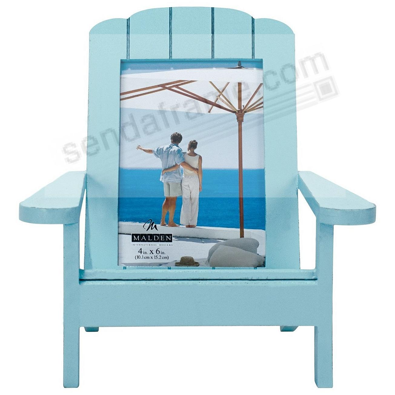 ADIRONDACK CHAIR Turquoise 4x6 frame in natural wood by Malden®