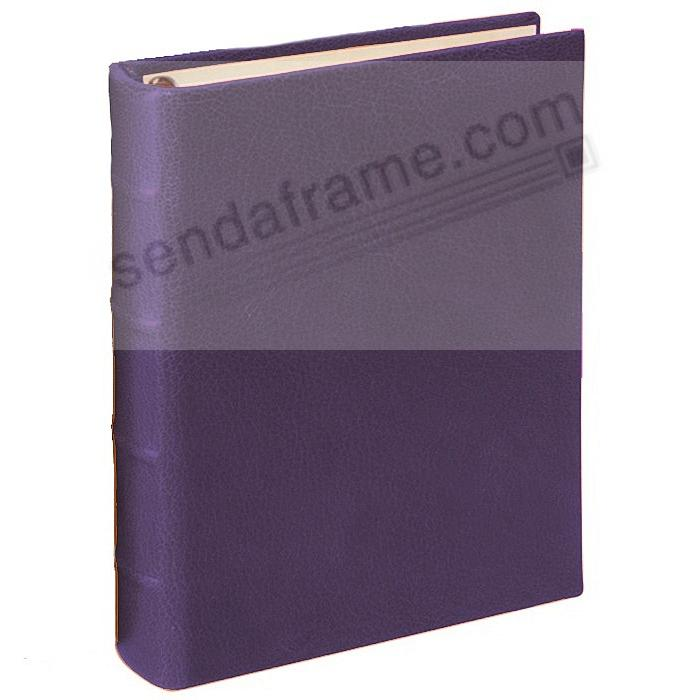 BRIGHTS PURPLE 1-Up Clear Pocket Fine-Leather 3-ring Album<br>by Graphic Image&trade;