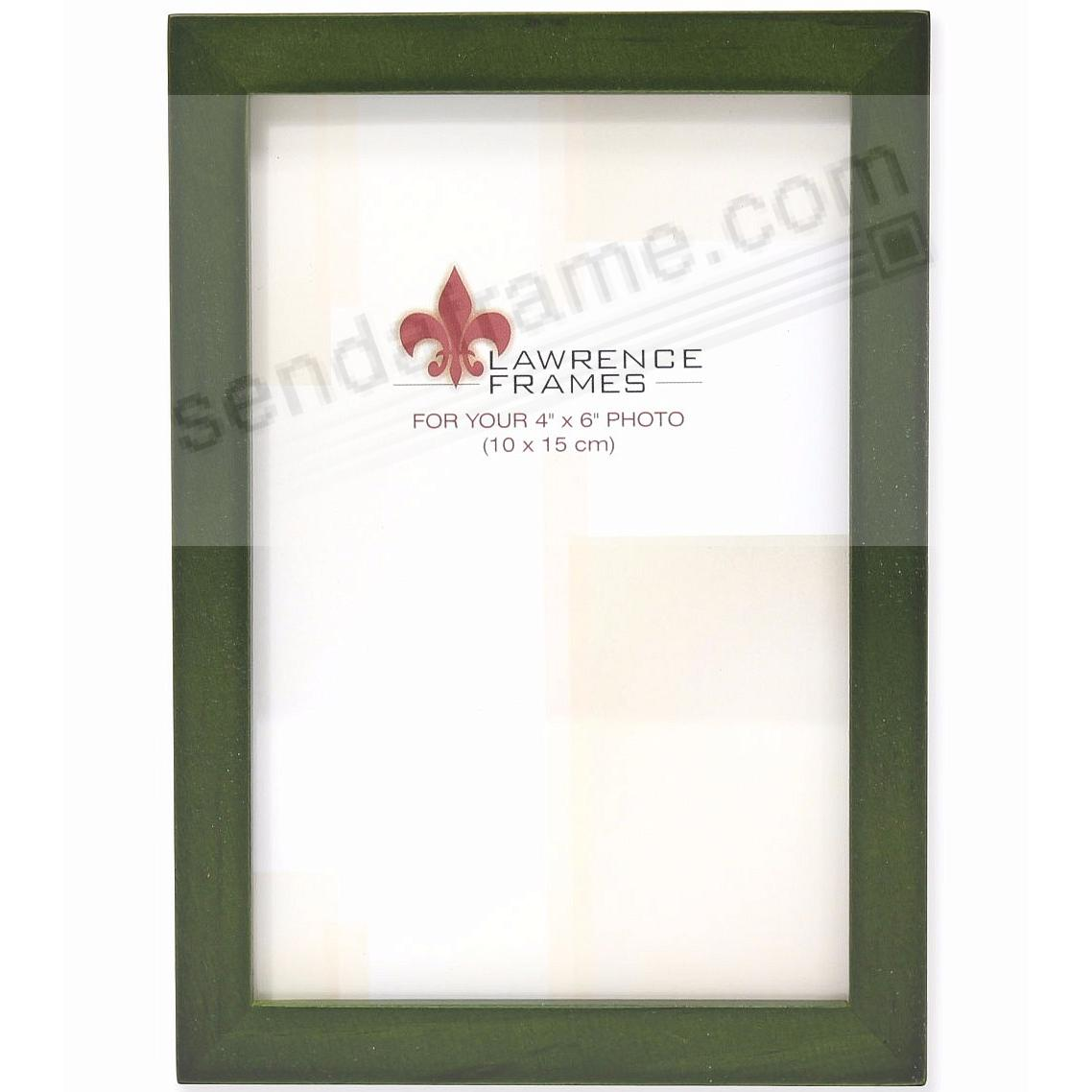 SQUARE CORNER Green Stain classic 4x6 frame by Lawrence Frames®