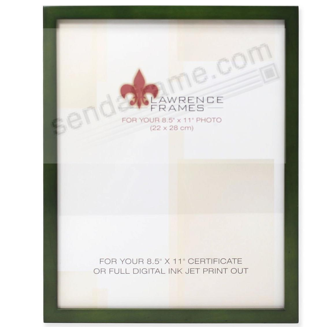 SQUARE CORNER Green Stain classic 8½x11 frame by Lawrence Frames®