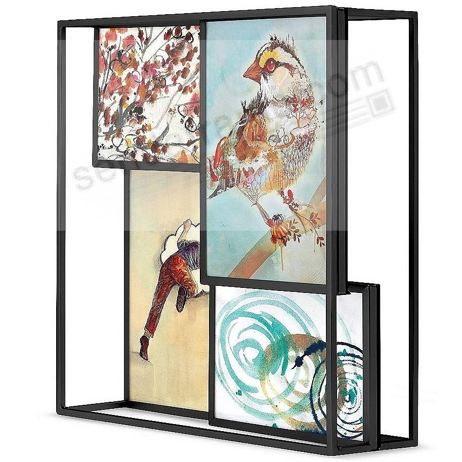 The Original MATRIX MULTI 4-Photo Desk Display Black frame by Umbra®