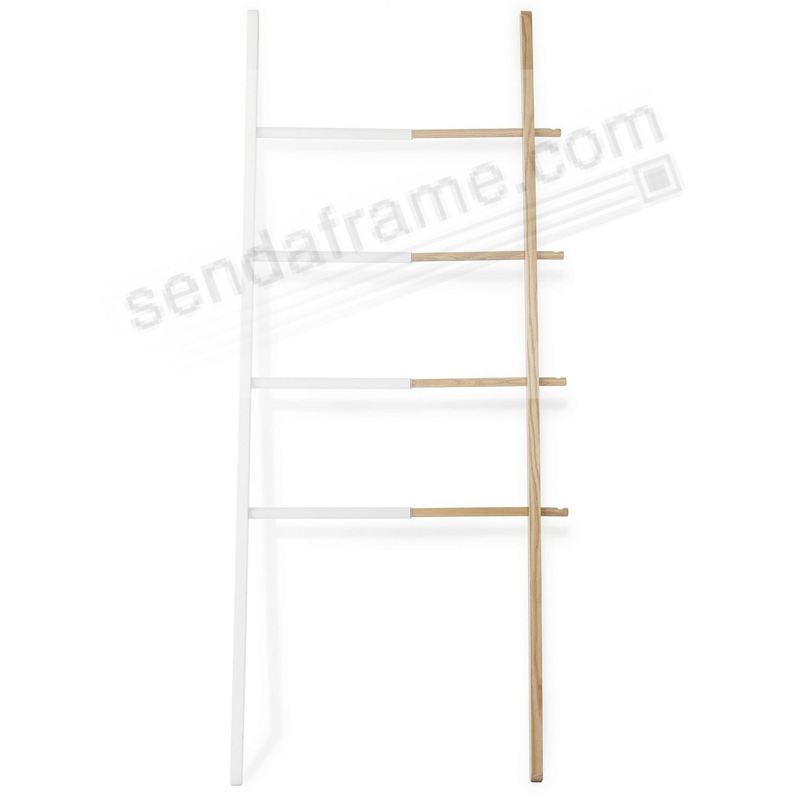 The Original HUB LADDER in Natural Wood / White Rubber + Steel by Umbra®