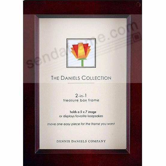 Dark-Walnut wood stain 5x7 shadow box ½in deep for your print or collectibles by Dennis Daniels®