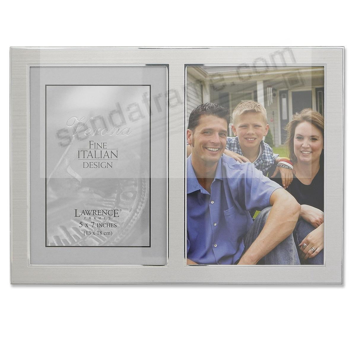 satin silverplate double 5x7 frame by lawrence - Double 5x7 Frame