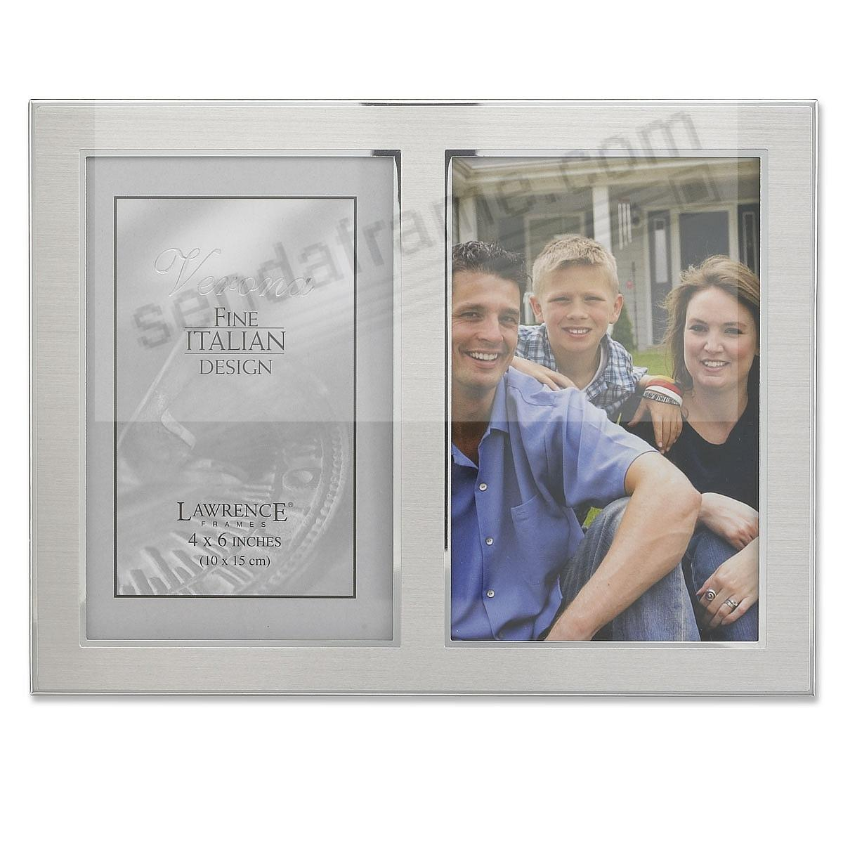 Satin Silverplate Double 4x6 frame by Lawrence®