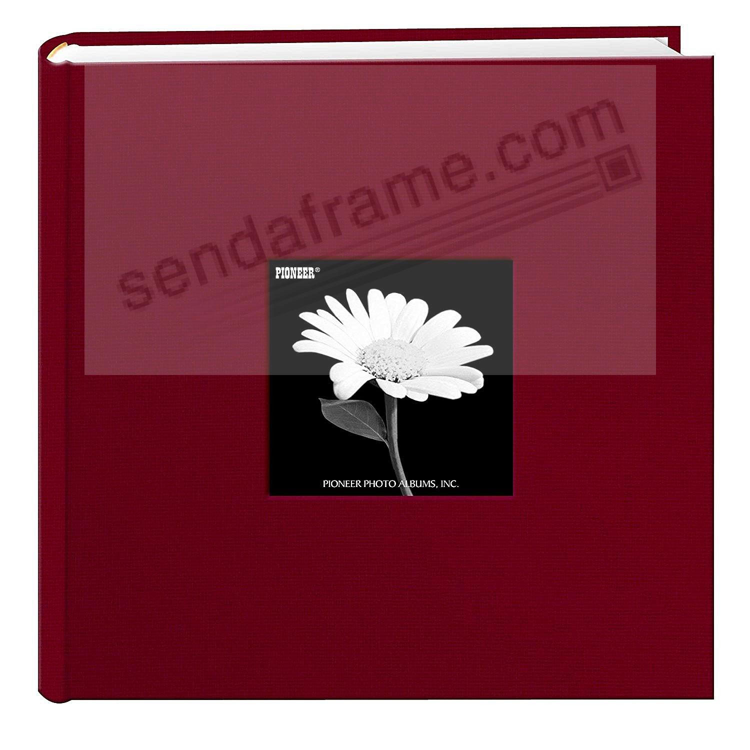 CHAMPION BURGUNDY Cloth 2-up frame cover photo album by Pioneer®