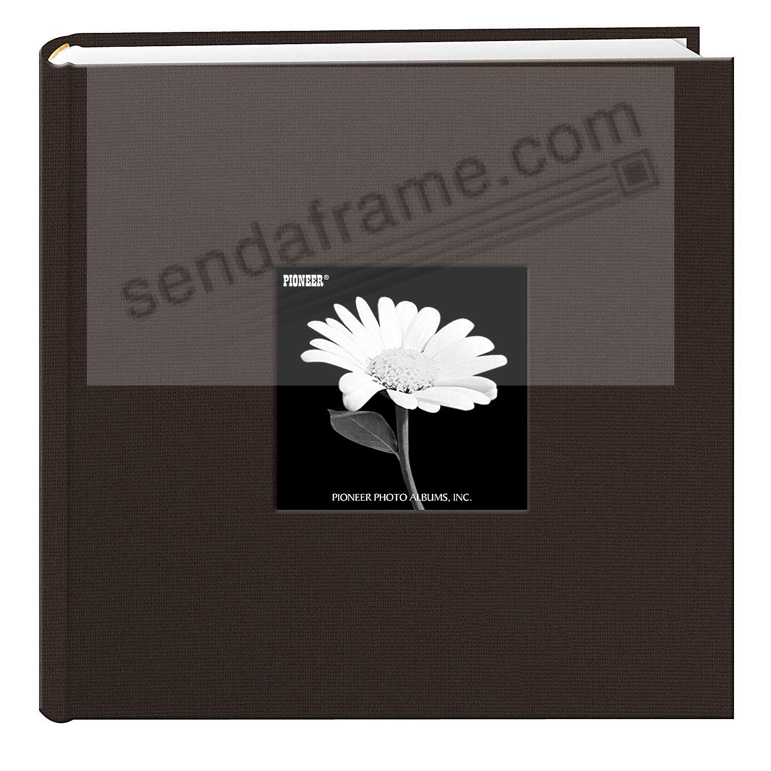 CHOCOLATE BROWN Cloth 2-up frame cover photo album by Pioneer®