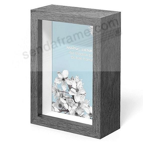 The Original CHROMA Shadowbox Charcoal-Grey 4x6 frame by Swing Design®