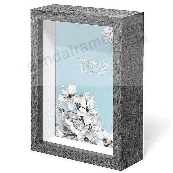 The Original CHROMA Shadowbox Charcoal-Grey 5x7 frame by Swing Design®