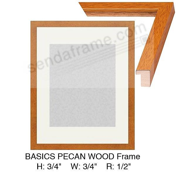 Custom-Cut BASICS™ Rich Pecan Wood H:¾ W:¾ R:½