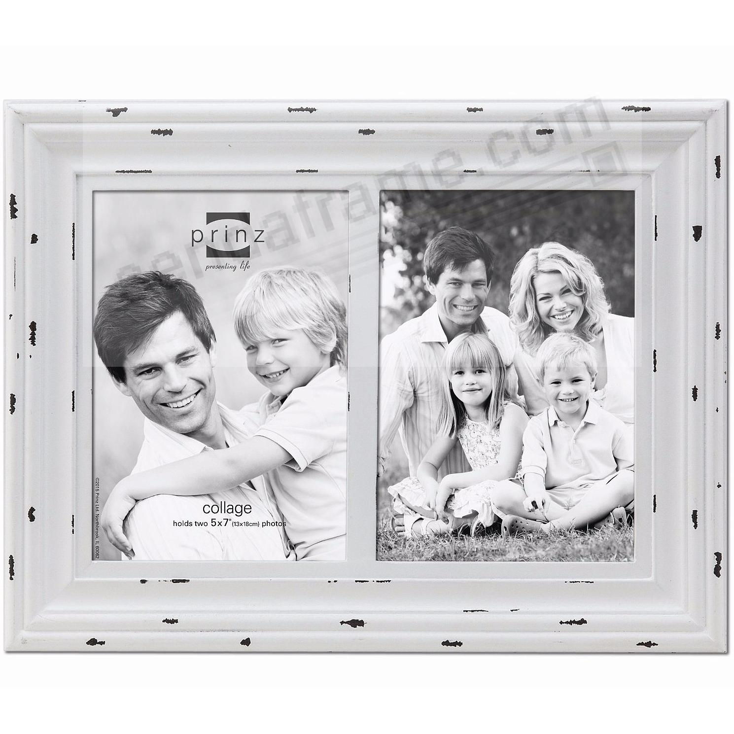 Carson distressed white wood float double 5x7 frame by prinz usa carson distressed white wood float double 5x7 frame by prinz usa jeuxipadfo Choice Image