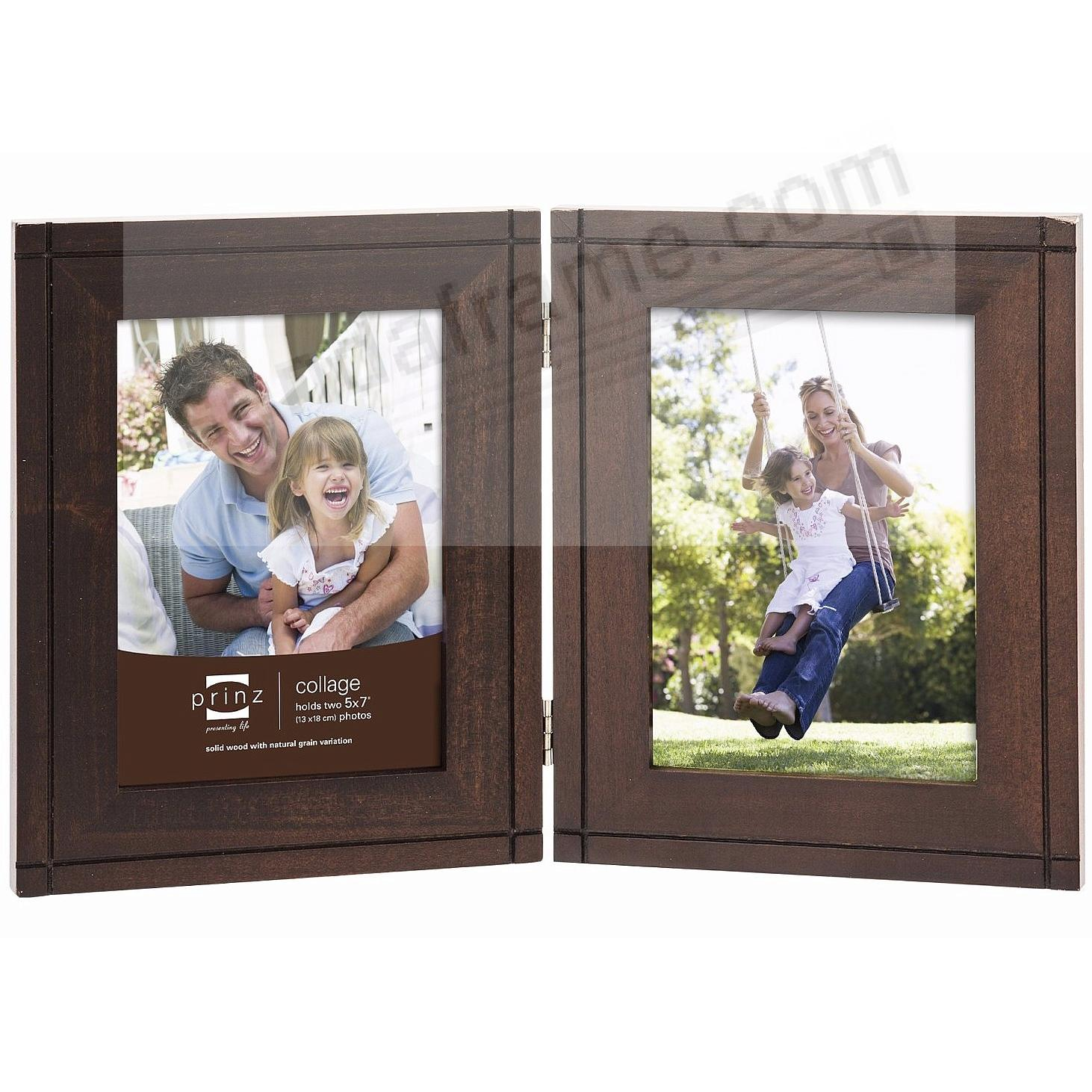 DRYDEN Expresso stained hinged 5x7 double by Prinz® - Picture Frames ...