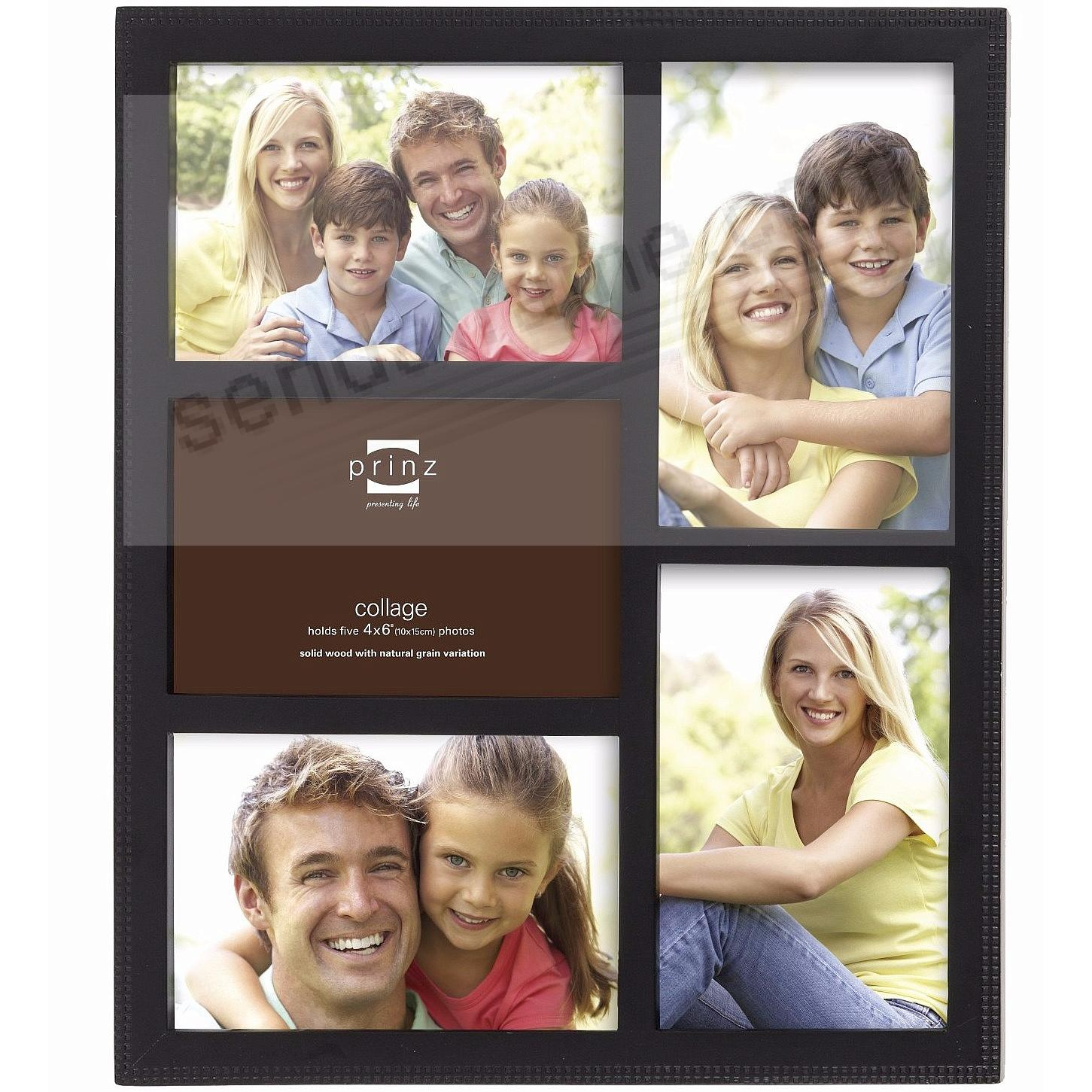 Picture frames photo albums personalized and engraved digital sonoma black patterned five opening 4x6 frame by prinzreg jeuxipadfo Images