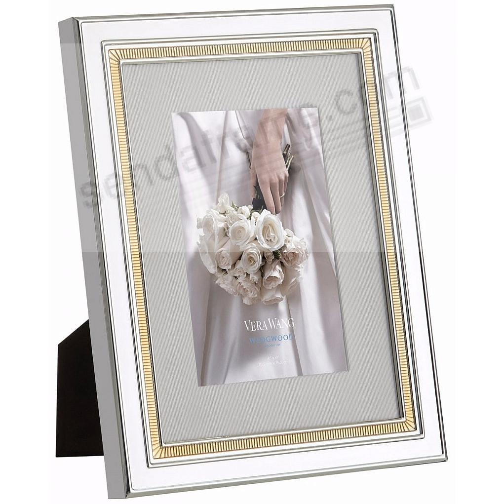 CHIME SILVER/GOLD new matted 4x6 frame by Vera Wang® - Picture ...