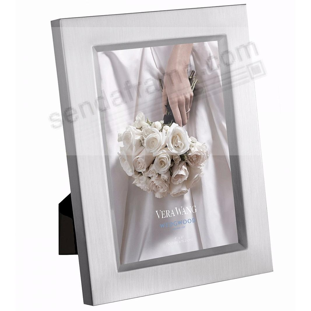 SATIN SILVER 4x6 frame by Vera Wang® for Wedgwood® - Picture Frames ...