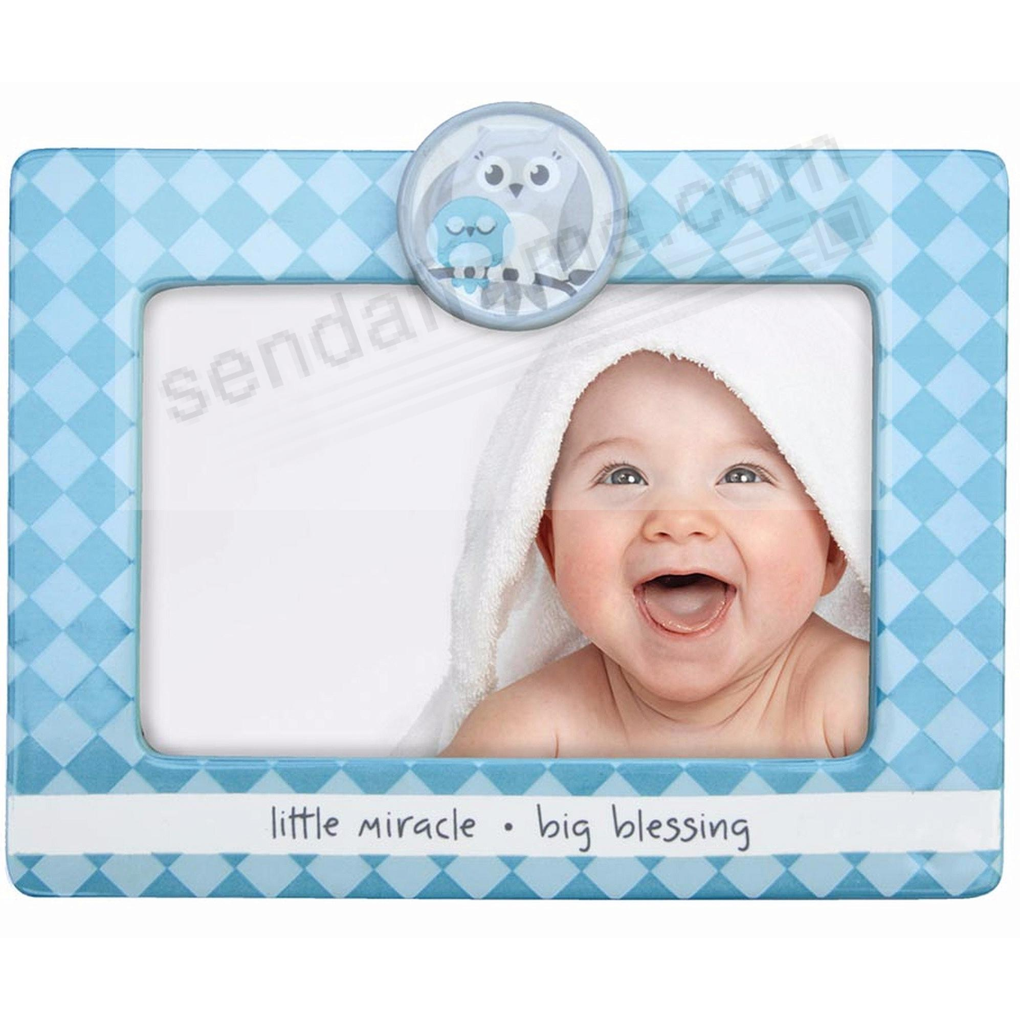 adorable little miracle big blessing blue baby frame