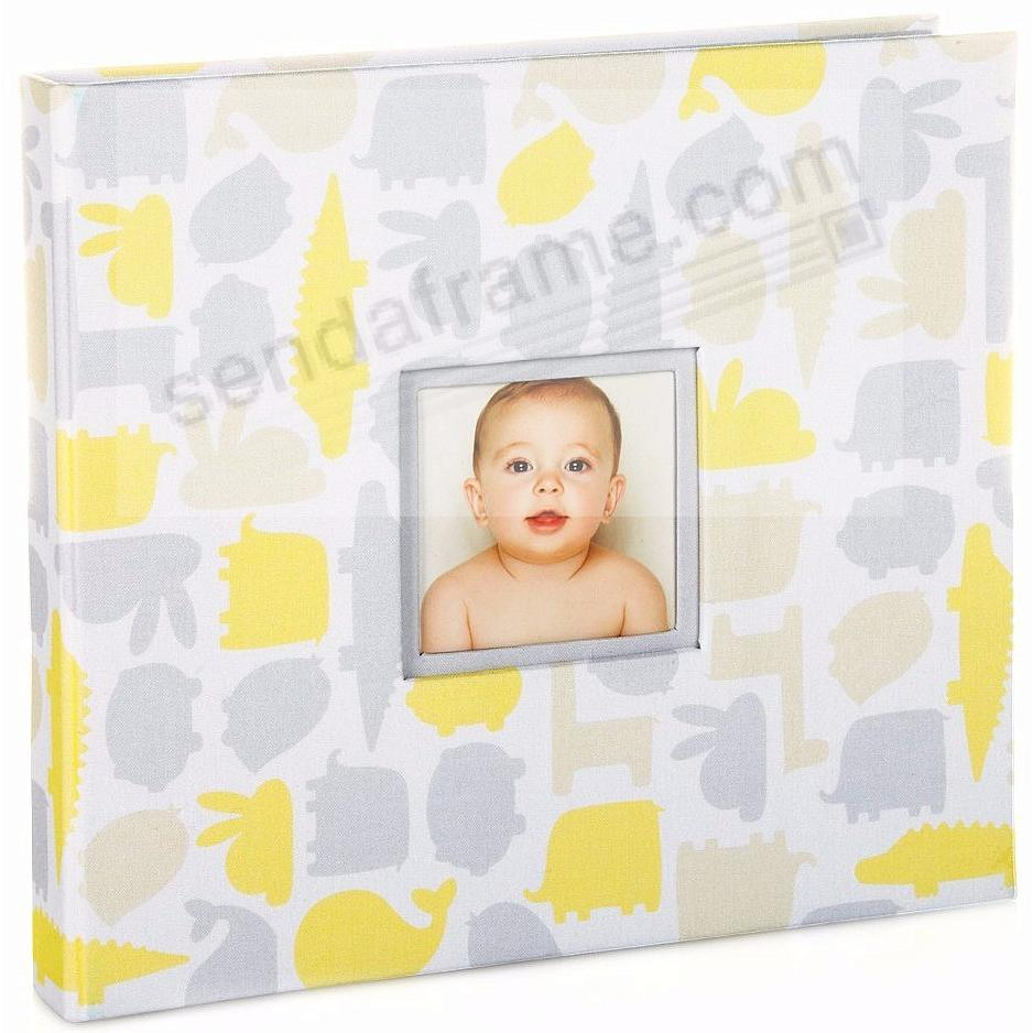 The SIGNATURE COLLECTION BABY BOOK Gray/Yellow by Babyprints®