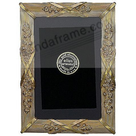 LOUIS XIV 18kt Museum Gold over Fine Pewter 5x7/4x6 frame by Elias Artmetal®