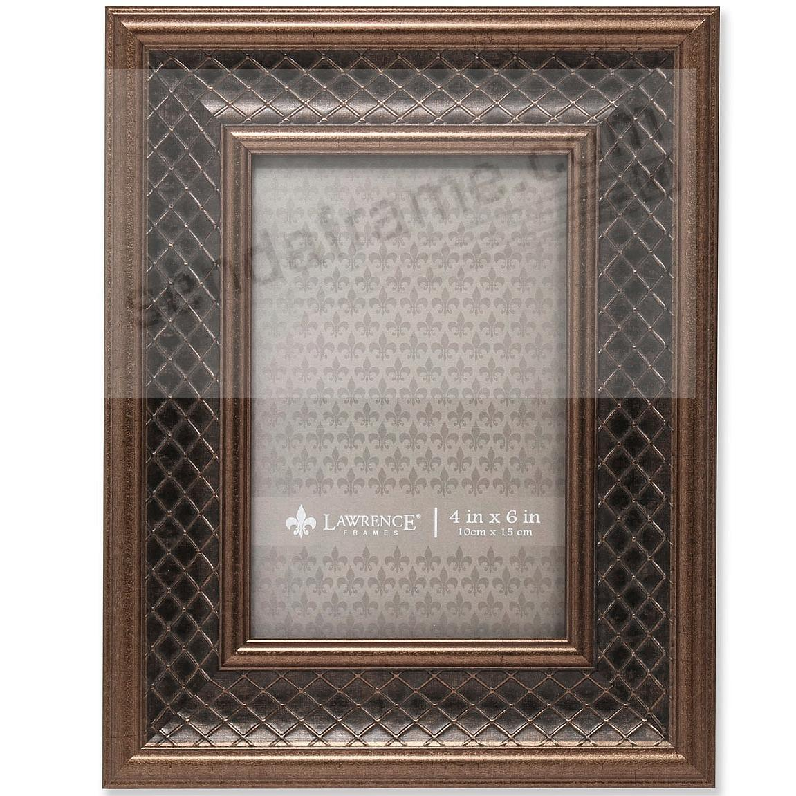 HABER BRONZE Lattice style frame by Lawrence Frames®