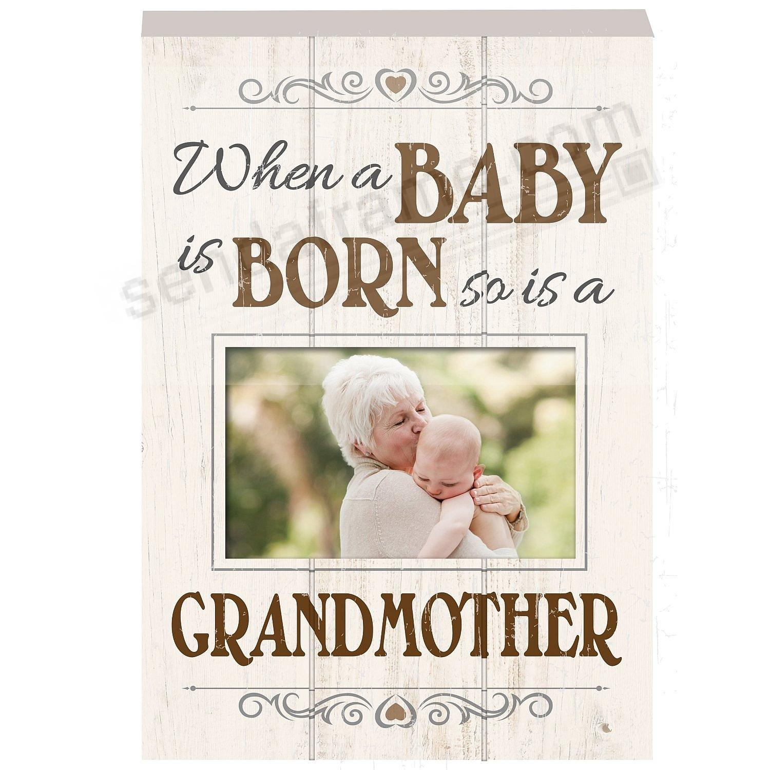 When a Baby is Born - so is a GRANDMOTHER Wood Block Frame by Prinz ...