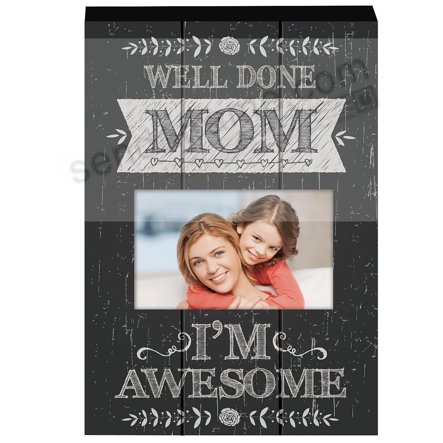 mom well done wooden block frame by prinz