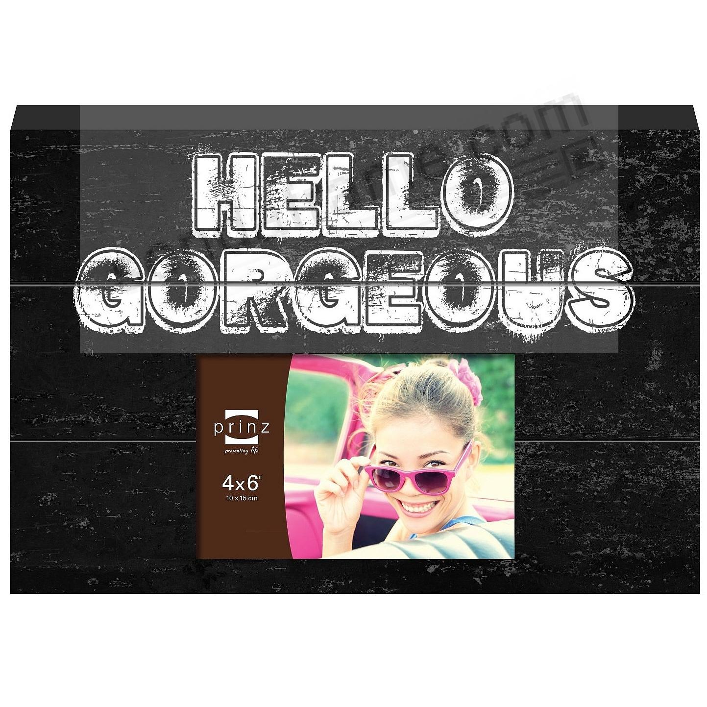 HELLO GORGEOUS Wood Block Frame by Prinz®