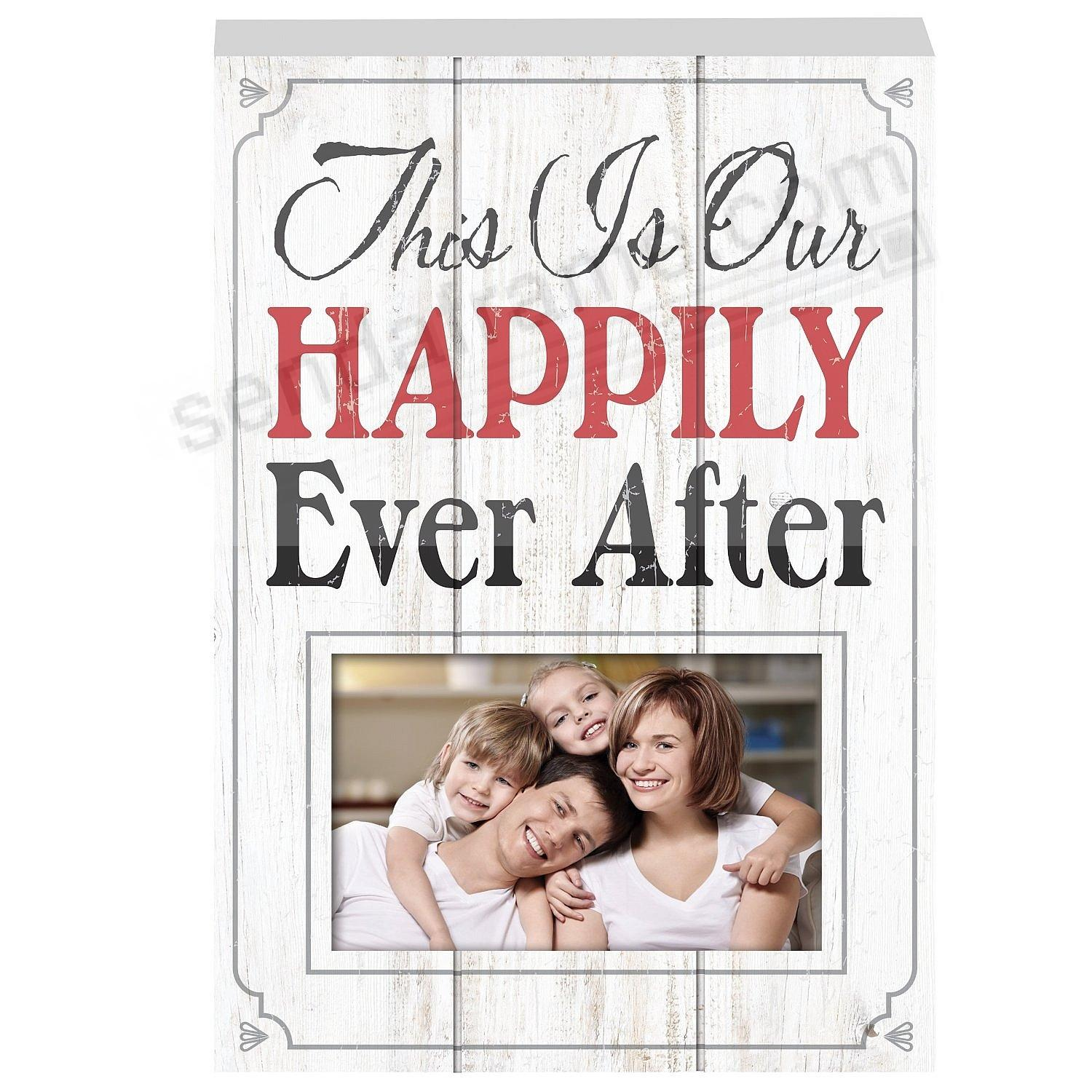 THIS IS OUR HAPPILY EVER AFTER Wood Block Frame by Prinz®