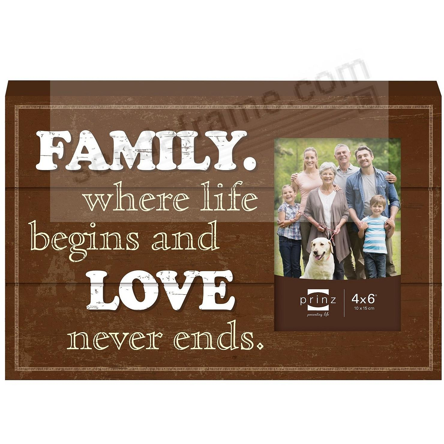 FAMILY Wood Block Frame by Prinz® - Picture Frames, Photo Albums ...