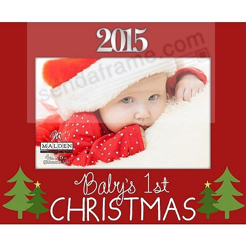 Limited Edition BABY\'S 1ST CHRISTMAS WHIMSY 2015 frame by Malden ...