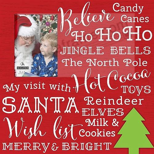 Christmas Sayings 5x7 Frame Sign By Malden Design Picture Frames