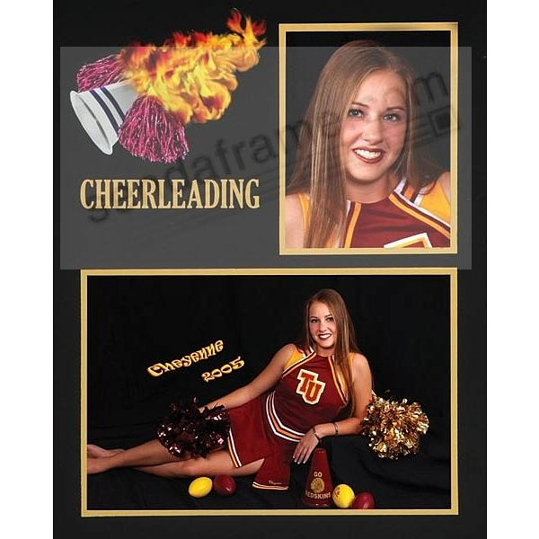CHEERLEADING Team 7x5/3½x5 MEMORY MATES cardstock double photo frame ...