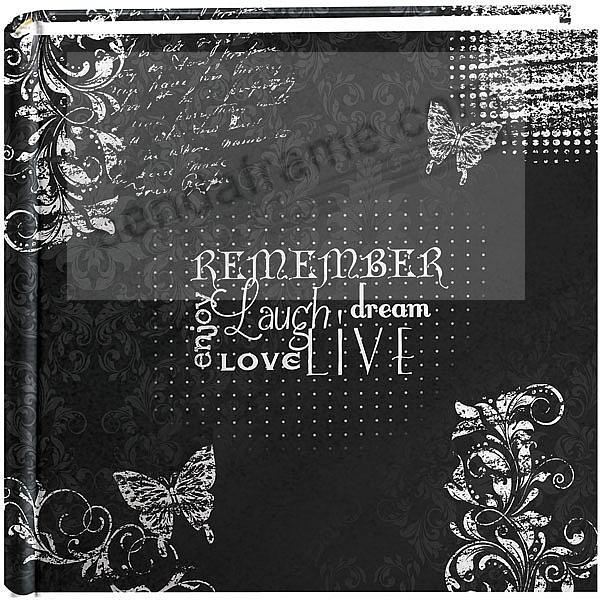 Chalkboard Printed REMEMBER - ENJOY - LAUGH - LOVE 2-up photo album by Pioneer®