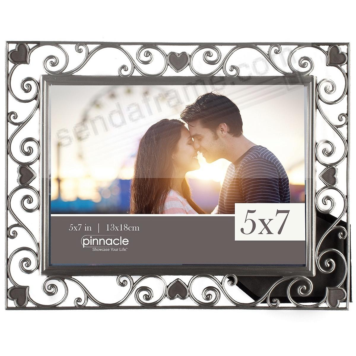 Picture frames photo albums personalized and engraved digital pewter scroll hearts 5x7 frame by pinnaclereg jeuxipadfo Choice Image