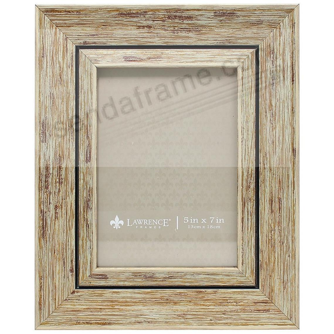 Weathered/Antique Natural Angled Wood 5x7 Frame by Lawrence ...
