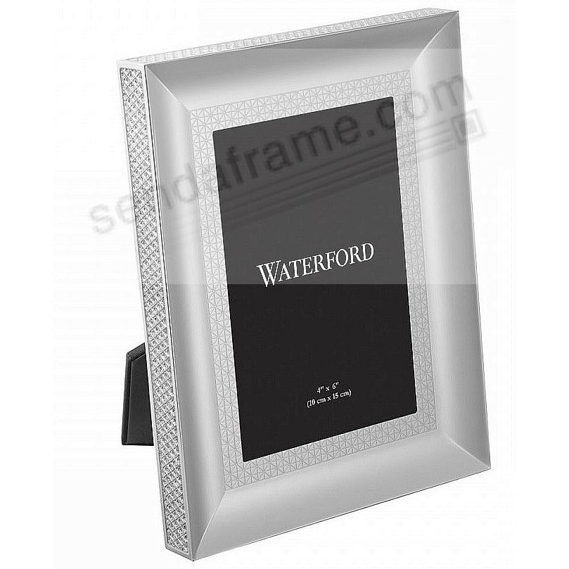 LISMORE DIAMOND patterned 4x6 silver frame by Waterford® - Picture ...