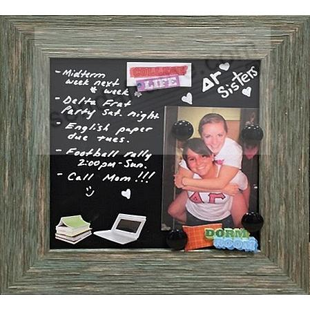 Weathered-Grey framed Magnetic Chalkboard by Lawrence®