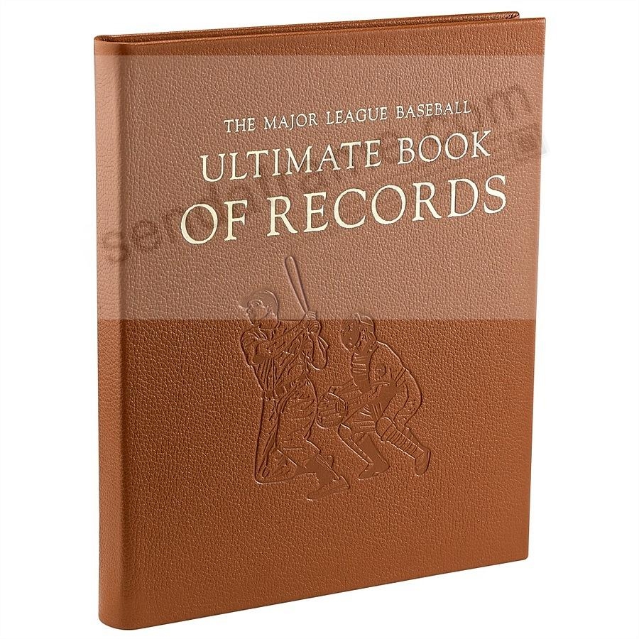 The Major League Baseball Ultimate Book of Records in Full Grain Leather<br>Special Edition Book