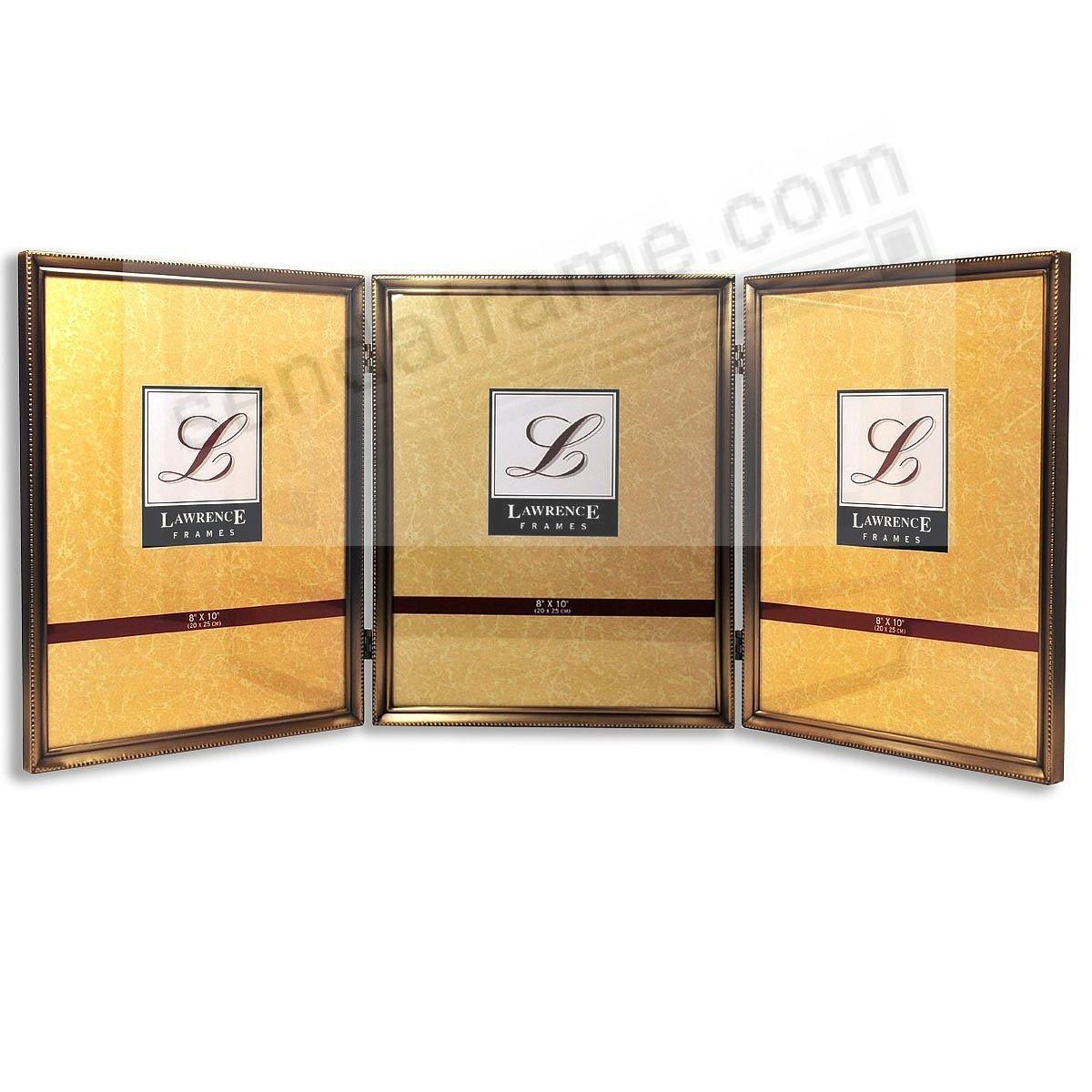 Picture frames photo albums personalized and engraved digital classic antiqued goldtone hinged triple jeuxipadfo Images