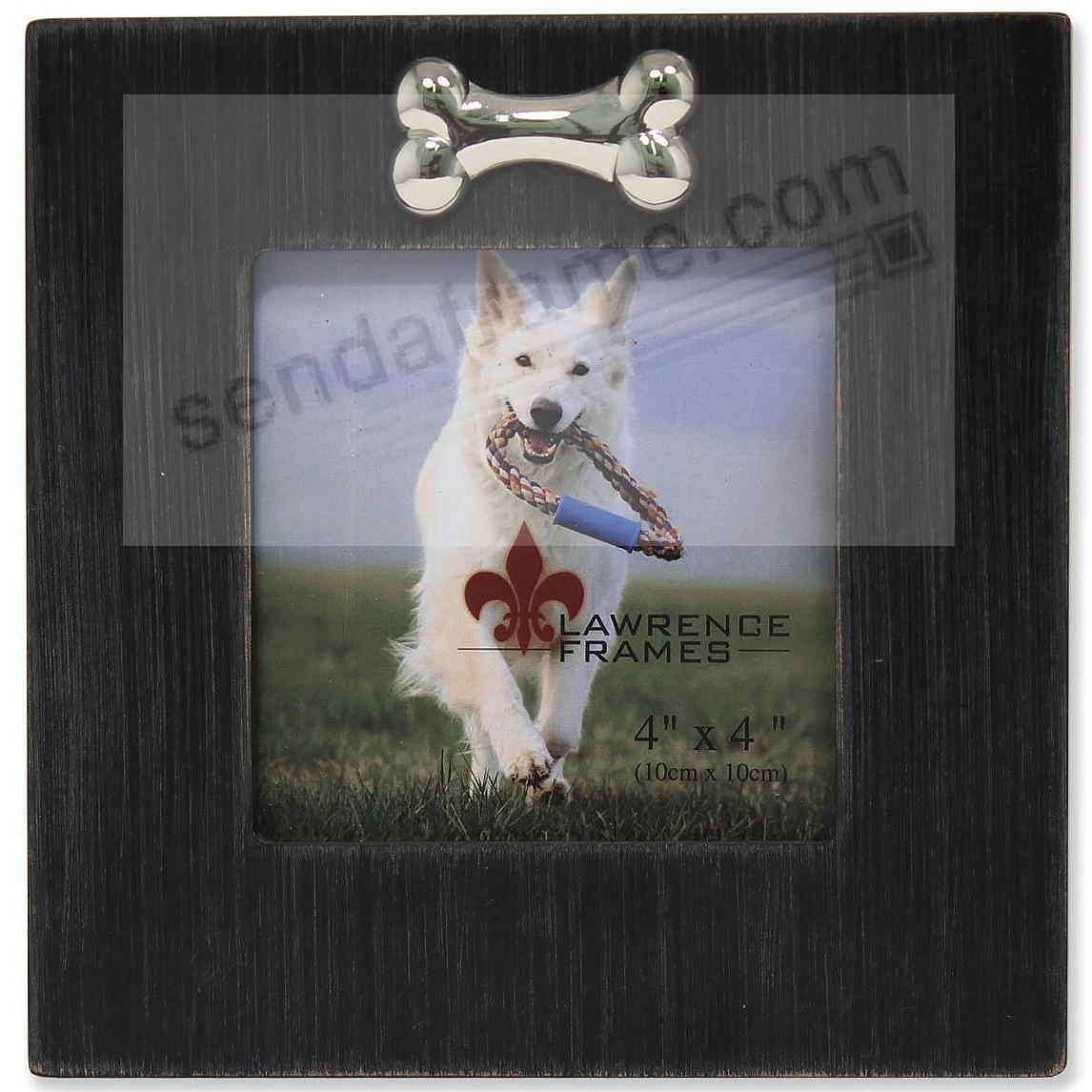 DOG BONE Black 4x4 frame by Lawrence® - Picture Frames, Photo Albums ...