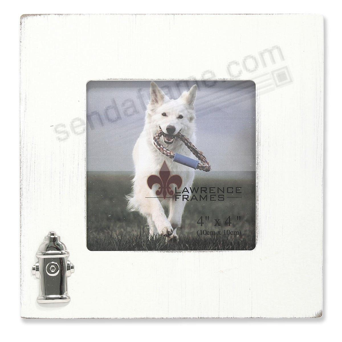 FIRE HYDRANT White 4x4 frame by Lawrence®
