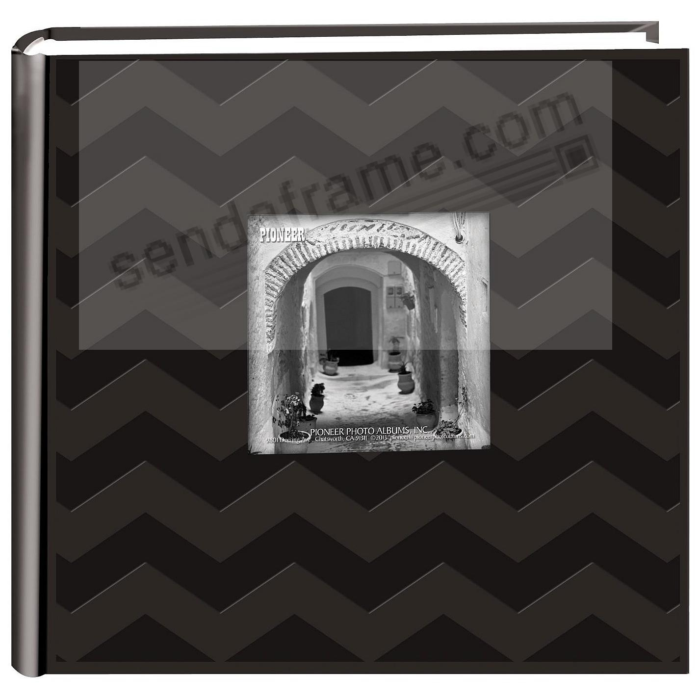 CHEVRON BLACK Cloth 2-up frame cover photo album by Pioneer®